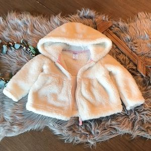 Carter's Just One You 12m White fuzzy jacket